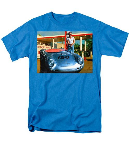 James Dean Filling His Spyder With Gas Men's T-Shirt  (Regular Fit) by Doc Braham