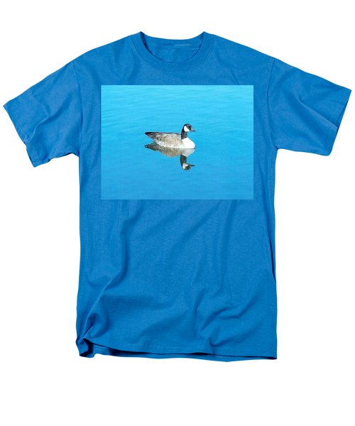 Men's T-Shirt  (Regular Fit) featuring the photograph Mirror Goose by Kerri Mortenson