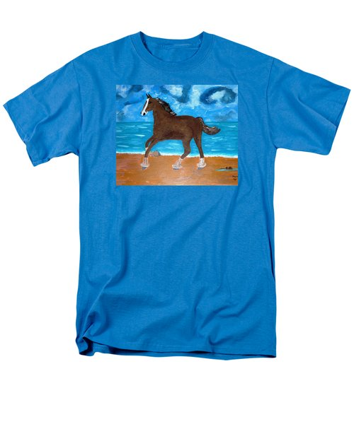 A Horse On The Beach Men's T-Shirt  (Regular Fit) by Magdalena Frohnsdorff