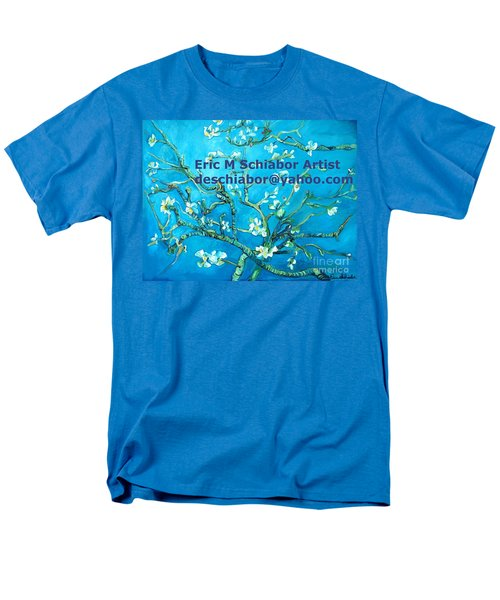 Almond Blossom Branches Men's T-Shirt  (Regular Fit) by Eric  Schiabor