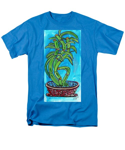 Men's T-Shirt  (Regular Fit) featuring the painting Bamboo Twist by Ecinja Art Works