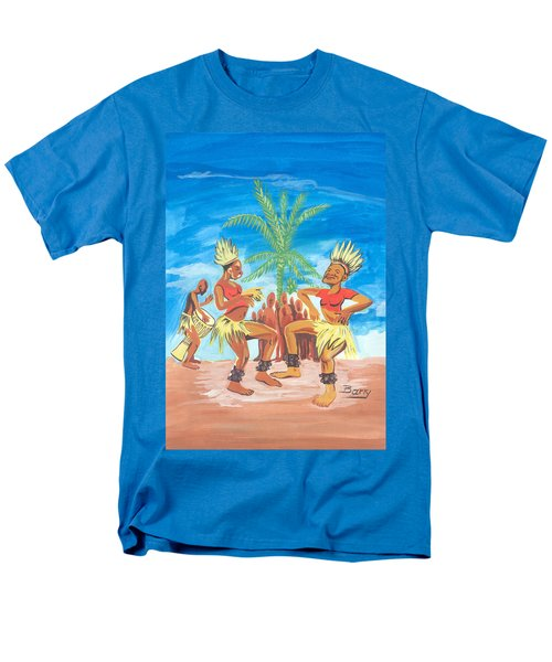 Bikutsi Dance 3 From Cameroon Men's T-Shirt  (Regular Fit) by Emmanuel Baliyanga