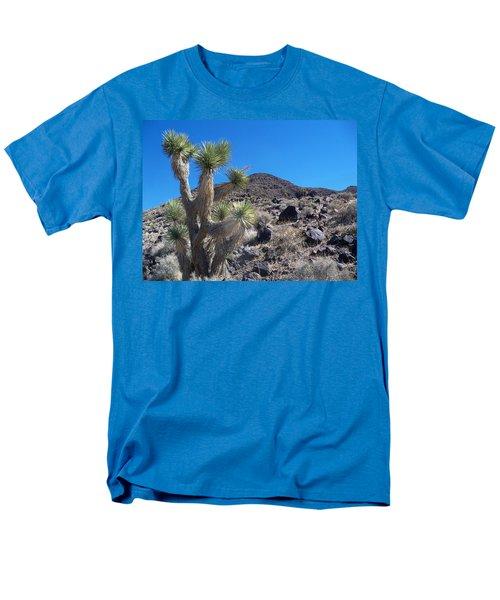 Men's T-Shirt  (Regular Fit) featuring the photograph Black Mountain Yucca by Alan Socolik