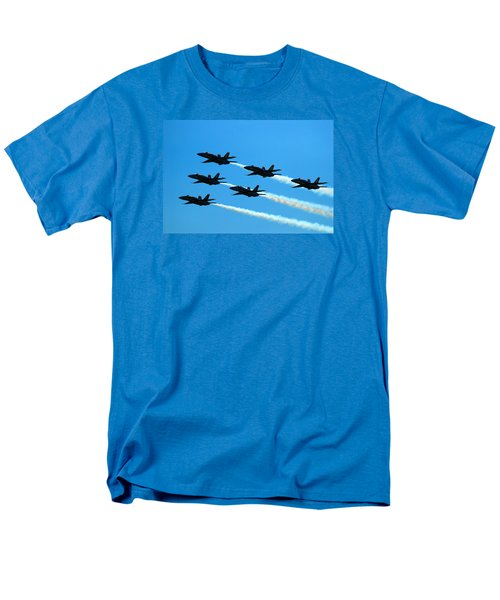 Men's T-Shirt  (Regular Fit) featuring the photograph Blue Angels The Need For Speed by James Kirkikis