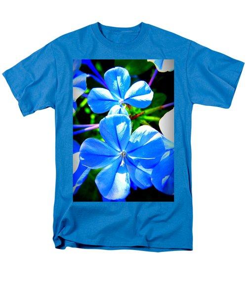 Men's T-Shirt  (Regular Fit) featuring the photograph Blue Flower by David Mckinney