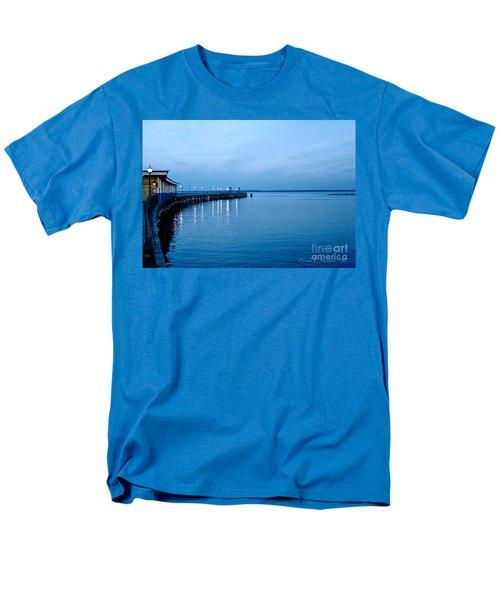 Blue Light Horizon Men's T-Shirt  (Regular Fit) by Carol F Austin