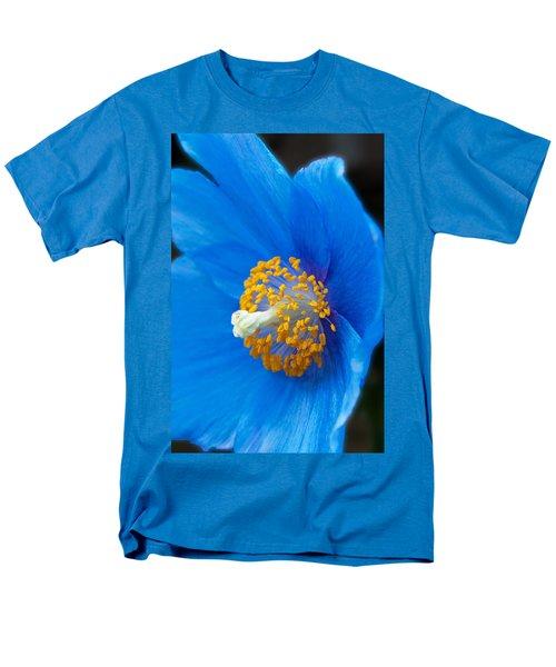 Blue Poppy Men's T-Shirt  (Regular Fit) by Michael Porchik