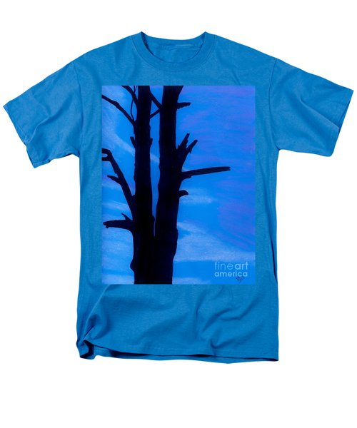 Men's T-Shirt  (Regular Fit) featuring the drawing Blue Sky Tree by D Hackett
