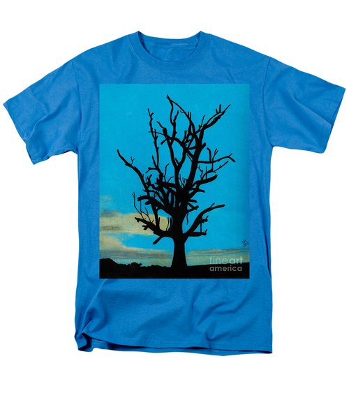 Men's T-Shirt  (Regular Fit) featuring the drawing Blue Sunset by D Hackett
