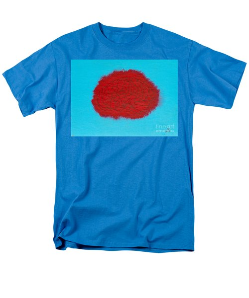Brain Red Men's T-Shirt  (Regular Fit)