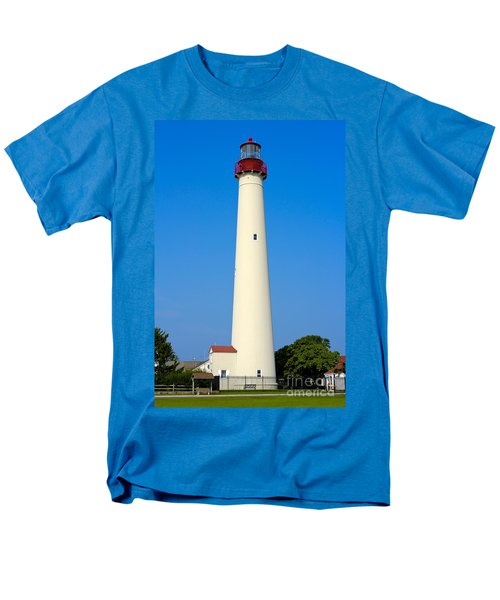 Cape May Lighthouse Men's T-Shirt  (Regular Fit) by Anthony Sacco