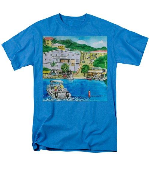 Cruz Bay St. Johns Virgin Islands Men's T-Shirt  (Regular Fit) by Frank Hunter
