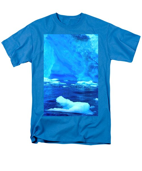 Men's T-Shirt  (Regular Fit) featuring the photograph Deep Blue Iceberg by Amanda Stadther