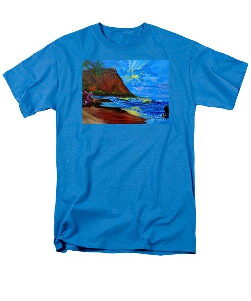 Diamond Head Blue Men's T-Shirt  (Regular Fit) by Jenny Lee