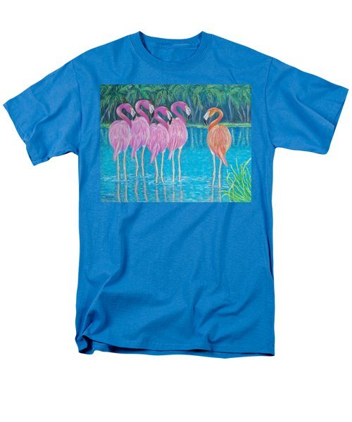 Men's T-Shirt  (Regular Fit) featuring the painting Different But Alike by Susan DeLain