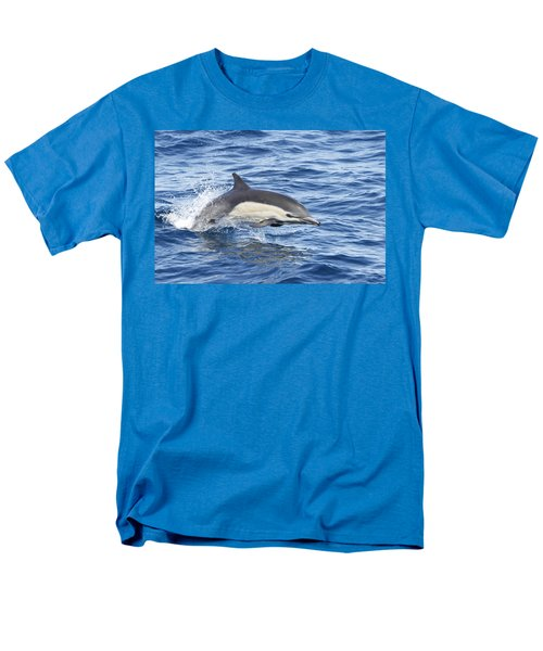 Men's T-Shirt  (Regular Fit) featuring the pyrography Dolphin At Play by Shoal Hollingsworth