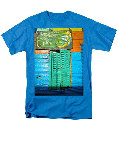 Men's T-Shirt  (Regular Fit) featuring the photograph Fachada De Conventillo by Silvia Bruno