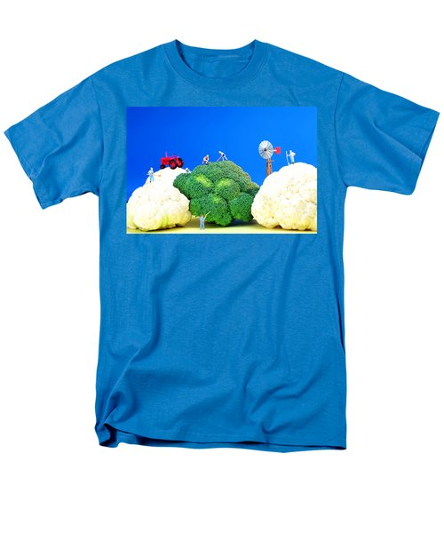 Farming On Broccoli And Cauliflower Men's T-Shirt  (Regular Fit) by Paul Ge