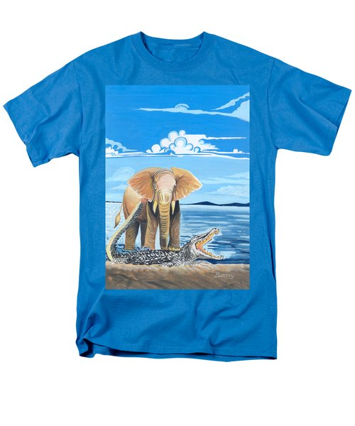 Men's T-Shirt  (Regular Fit) featuring the painting Faune D'afrique Centrale 02 by Emmanuel Baliyanga