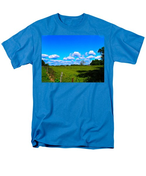 Fence Row And Clouds Men's T-Shirt  (Regular Fit) by Nick Kirby