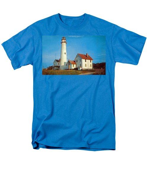 Fenwick Island Lighthouse 1950 Men's T-Shirt  (Regular Fit) by Skip Willits