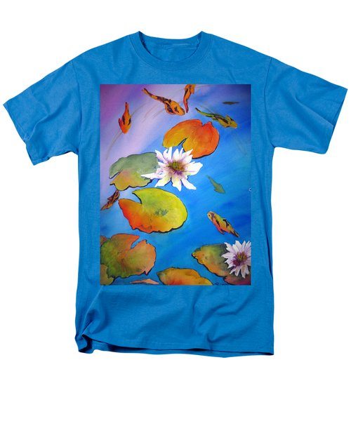 Men's T-Shirt  (Regular Fit) featuring the painting Fish Pond I by Lil Taylor