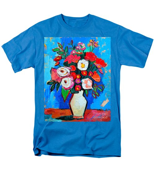 Flowers And Colors Men's T-Shirt  (Regular Fit) by Ana Maria Edulescu
