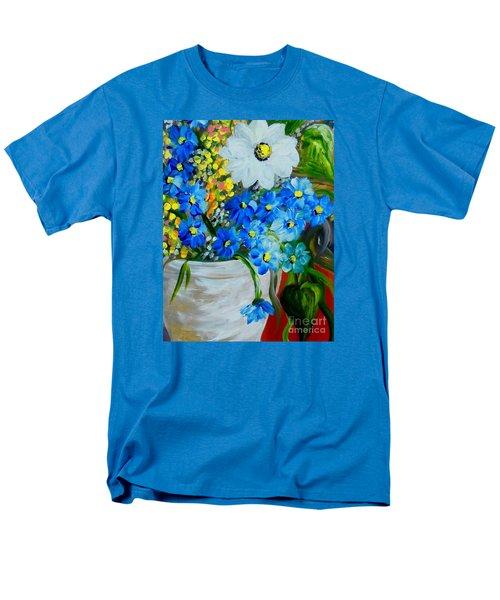 Flowers In A White Vase Men's T-Shirt  (Regular Fit) by Eloise Schneider