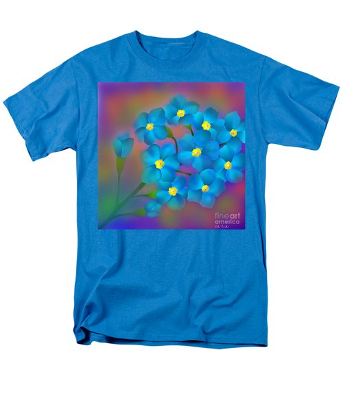 Men's T-Shirt  (Regular Fit) featuring the digital art Forget- Me -not Flowers by Latha Gokuldas Panicker