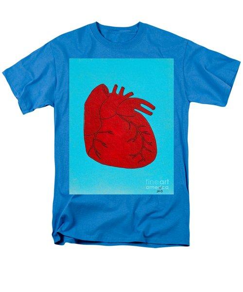 Heart Red Men's T-Shirt  (Regular Fit) by Stefanie Forck