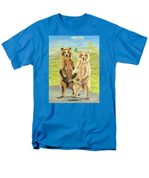 Hoedown On The Tundra Men's T-Shirt  (Regular Fit) by Phyllis Kaltenbach