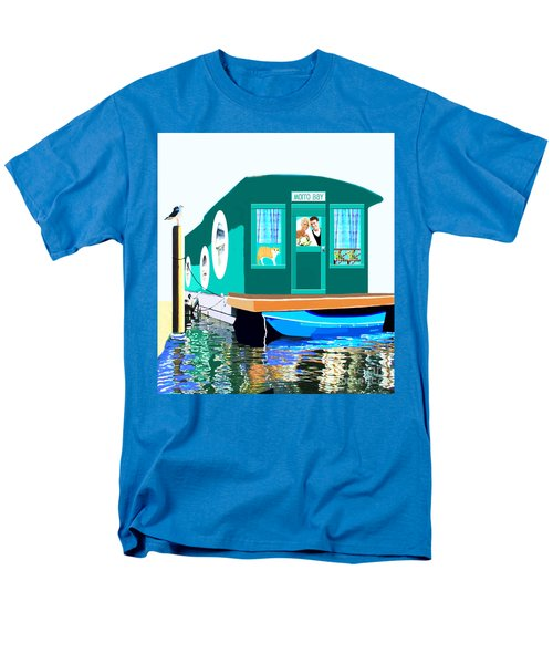 Houseboat Men's T-Shirt  (Regular Fit) by Marian Cates