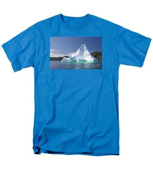 Men's T-Shirt  (Regular Fit) featuring the photograph Iceberg Newfoundland Canada by Liz Leyden