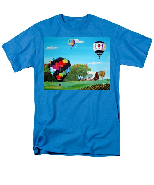 Iowa Balloons Men's T-Shirt  (Regular Fit) by Phyllis Kaltenbach