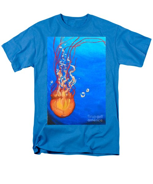 Men's T-Shirt  (Regular Fit) featuring the painting Jellyfish by Marisela Mungia