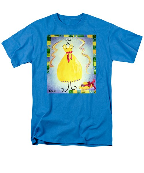 Men's T-Shirt  (Regular Fit) featuring the painting Just A Simple Hat And Dress by Eloise Schneider