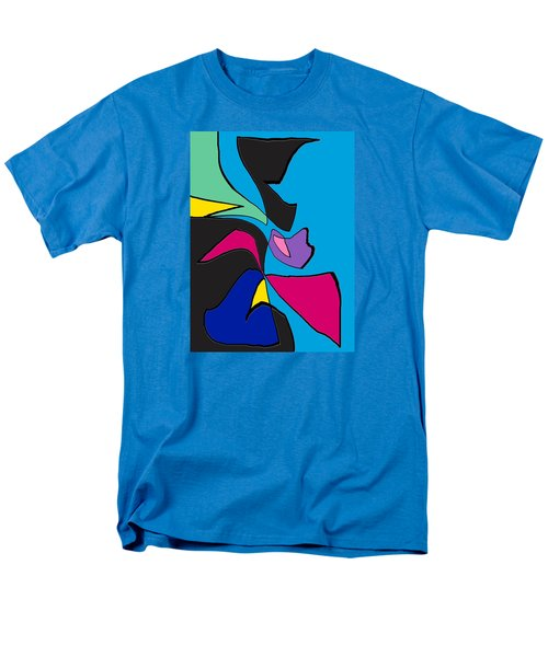 Original Abstract Art Painting Life Is Good By Rjfxx.  Men's T-Shirt  (Regular Fit) by RjFxx at beautifullart com