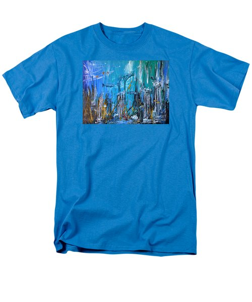 Men's T-Shirt  (Regular Fit) featuring the painting Lost City by Arturas Slapsys