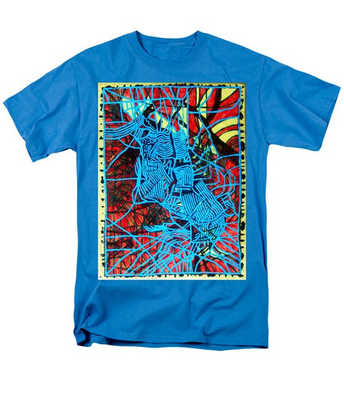 Maiden In Blue - Mary In The Temple Men's T-Shirt  (Regular Fit) by Gloria Ssali