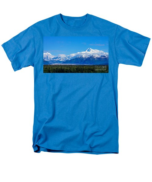 Majestic Mt Mckinley Men's T-Shirt  (Regular Fit) by Jennifer White