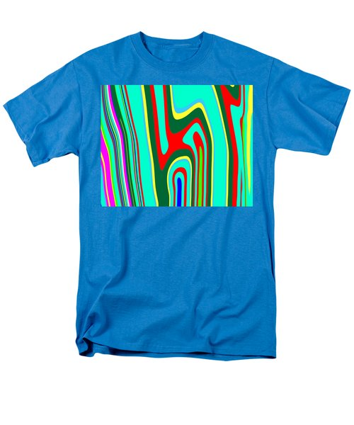 Men's T-Shirt  (Regular Fit) featuring the painting Mod Stripes  C2014 by Paul Ashby
