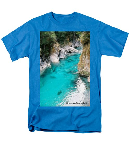 Men's T-Shirt  (Regular Fit) featuring the painting Mountain Pool by Bruce Nutting