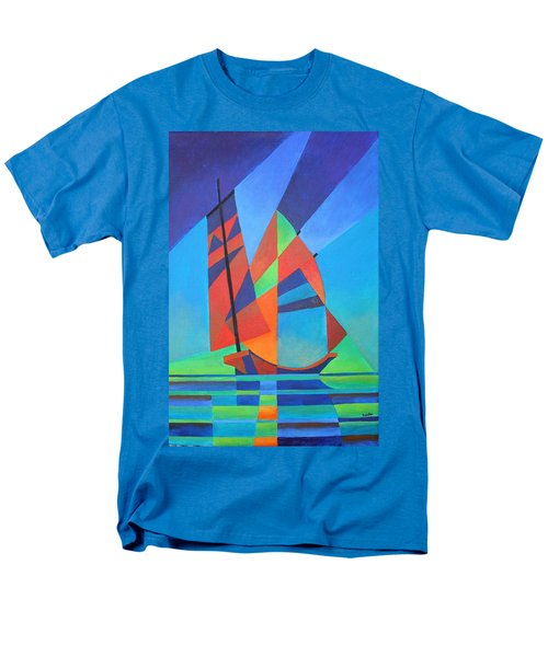 Men's T-Shirt  (Regular Fit) featuring the painting Nightboat by Tracey Harrington-Simpson