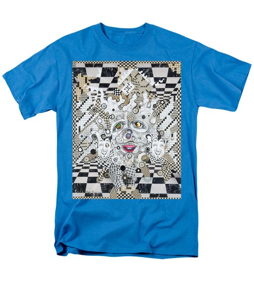 Men's T-Shirt  (Regular Fit) featuring the mixed media Olive Eyes by Douglas Fromm