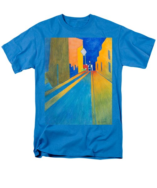 Orange France At Night Men's T-Shirt  (Regular Fit) by Lee Beuther