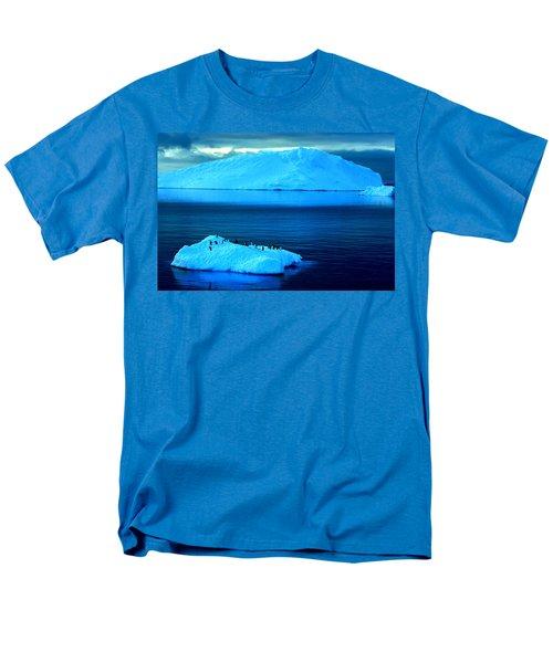 Penguins On Iceberg Men's T-Shirt  (Regular Fit) by Amanda Stadther