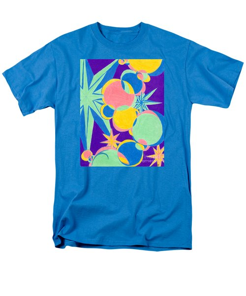 Men's T-Shirt  (Regular Fit) featuring the drawing Planets And Stars by Kim Sy Ok