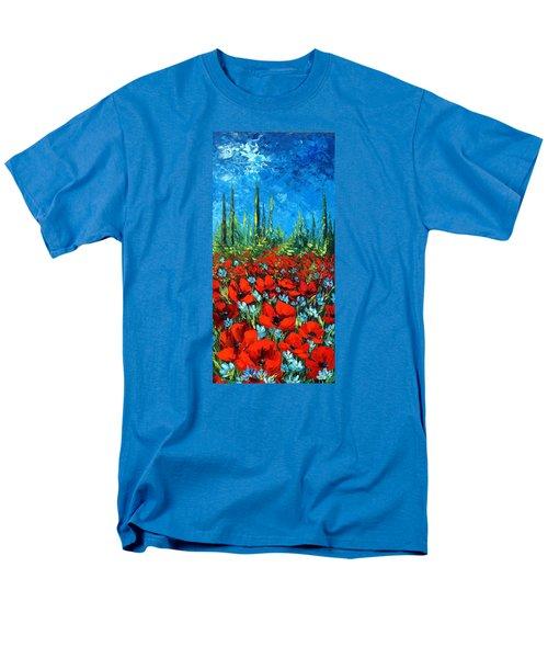 Poppie Field Men's T-Shirt  (Regular Fit) by Katia Aho