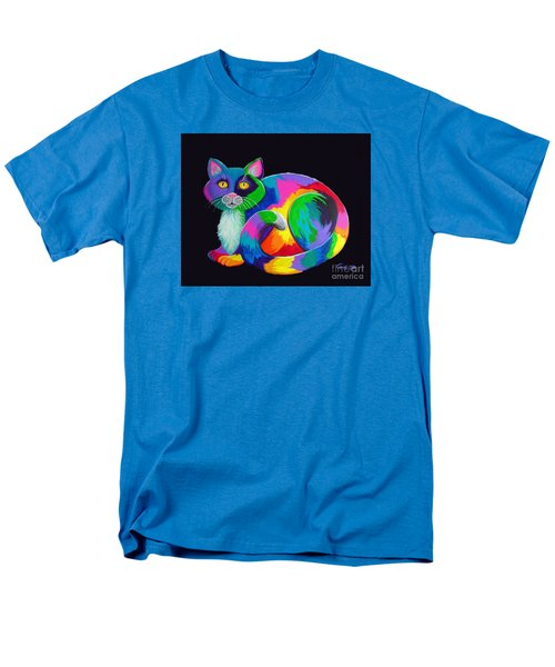 Rainbow Calico Men's T-Shirt  (Regular Fit) by Nick Gustafson