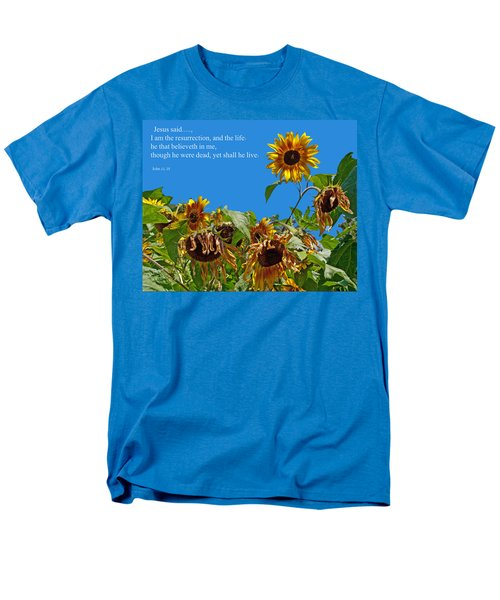 Resurrected Life Men's T-Shirt  (Regular Fit) by Tikvah's Hope